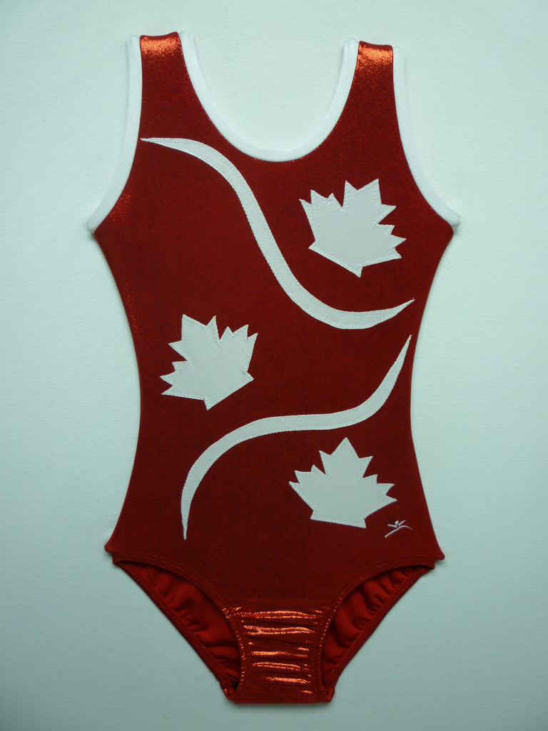 Canada 7 Red Mystique Tank Bodysuit