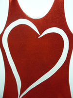 Heart- Open Red Mystique Tank Bodysuit