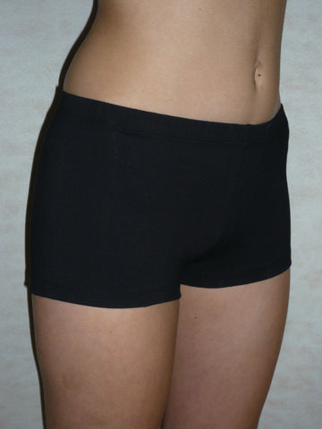 Shorts- BLACK Cotton/ Lycra