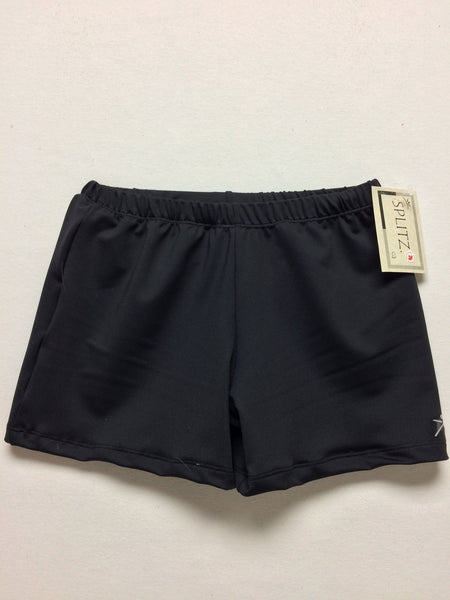 Men's/Boys Gymnastics Shorts- BLACK
