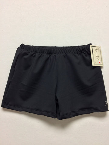 Boy's/ Men's Gymnastics Shorts- BLACK