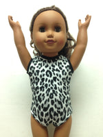 Doll Bodysuit - Snow Leopard