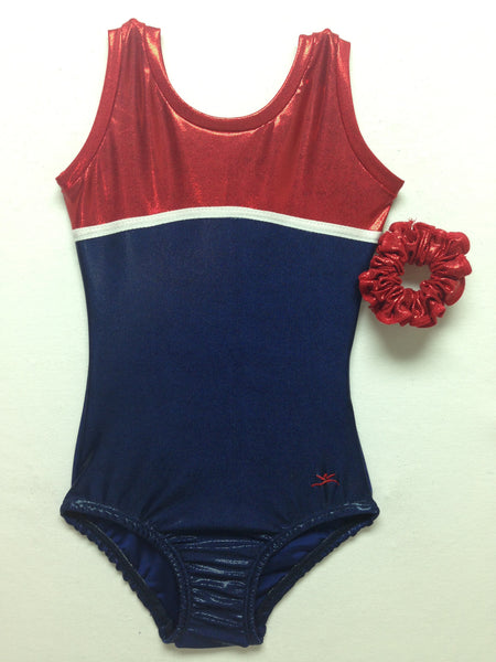 Annie Navy w/ Red Tank Mystique Bodysuit
