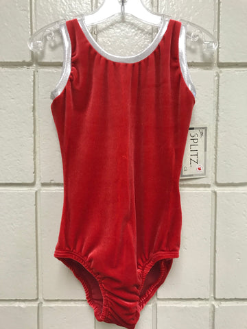 Velvet Red Tank Bodysuit