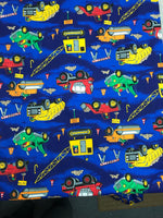 Trucks quilting cotton fabric- by the meter