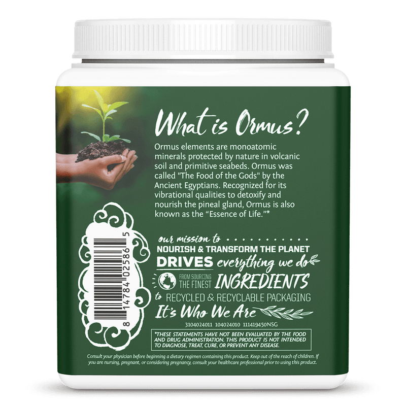 Ormus Supergreens Naturel 450g back