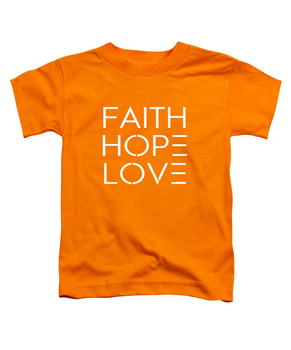 Faith Hope Love Toddler Bible T-Shirt - Coastal Faith