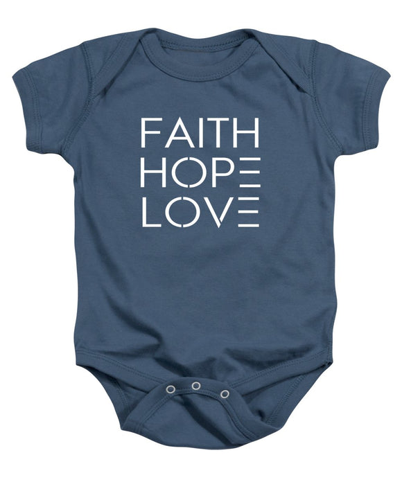 Faith Hope Love Bible Baby Onesie - Coastal Faith