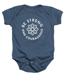 Be Strong and Courageous Bible Baby Onesie - Coastal Faith