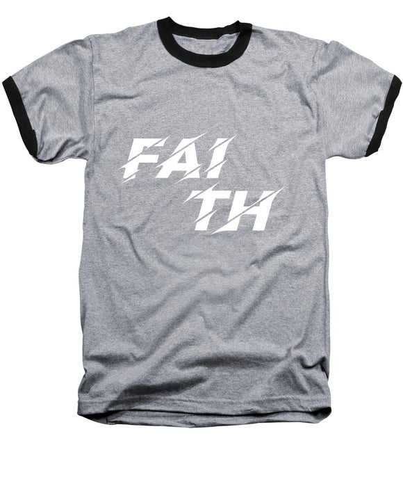 Unisex Faith Rocks Heather Gray Baseball Bible T-Shirt - Coastal Faith