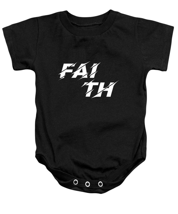 Faith Rocks Bible Baby Onesie - Coastal Faith