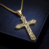 Titanium Jesus Cross Necklace Pendant - Coastal Faith