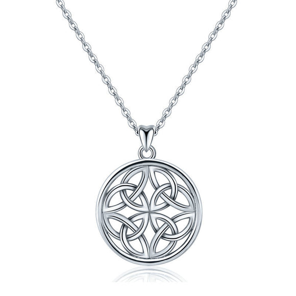 925 Sterling Silver Celtic Love Knot Necklace pendant - Coastal Faith