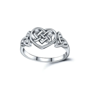 925 Sterling Silver Celtic Knot Heart Ring - Coastal Faith