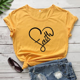 Love Faith in Heart T-Shirt Women - Coastal Faith