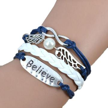 Infinity Angel Believe Bracelet - Coastal Faith