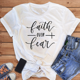 Faith Over Fear Bible T-Shirt - Coastal Faith