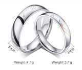 """Real Love"" Couples Heart Ring Set - Coastal Faith"