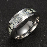 Luminous Jesus Ring Glow In The Dark Jewelry For Women And Men - Coastal Faith