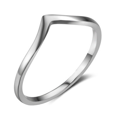 925 Sterling Silver Minimalist Wave Ring - Coastal Faith