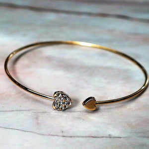 Crystal Heart Love Bangle - Coastal Faith