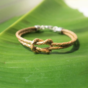 Infinity Knot Braided Leather Bracelet - Coastal Faith