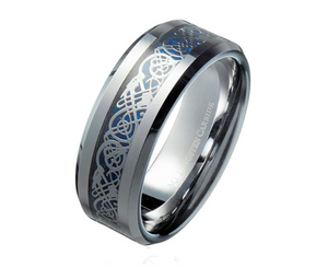 Silver Tungsten Celtic Ring - Coastal Faith