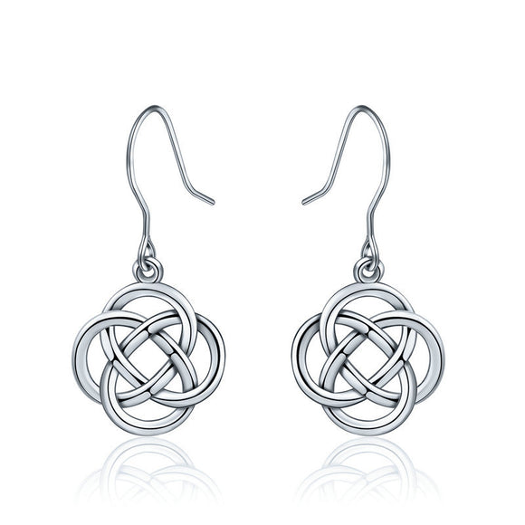 925 Sterling Silver Celtic Love Knot Earrings - Coastal Faith