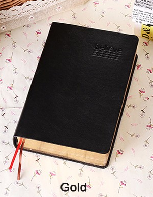Leather Bible Journal Notebook w/Blank Pages - Coastal Faith