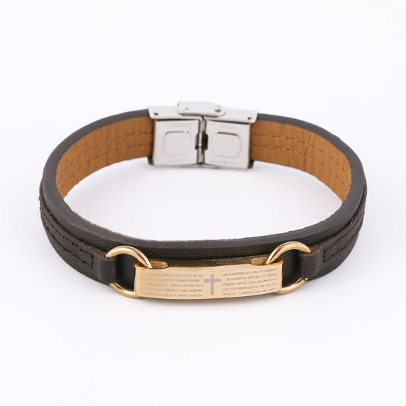 Padre Nuestro (Lord's Prayer) Leather Bracelet - Coastal Faith