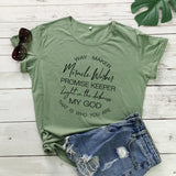 Way Maker Miracle Worker T-Shirt Women - Coastal Faith