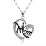 For Mom Heart Diamond Necklace - Coastal Faith