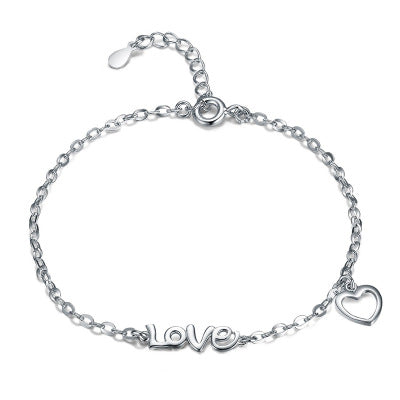 925 Silver Love Heart Bracelet - Coastal Faith