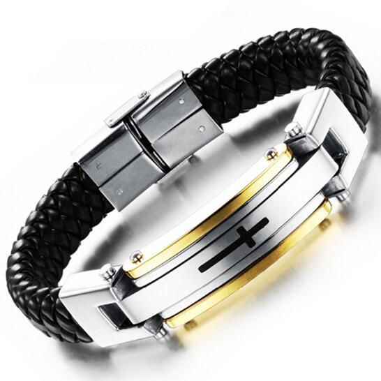 Cross stainless steel bracelet - Coastal Faith