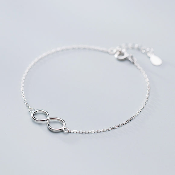 925 Sterling Silver Infinity Bracelet - Coastal Faith