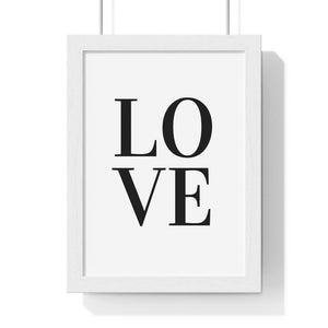 Love Art Print 8x11 Framed - Coastal Faith