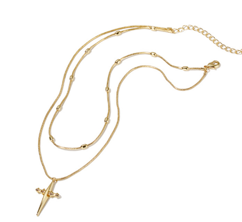 Rosary Cross Pendant Necklace - Coastal Faith