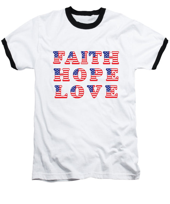 American Faith American Flag Baseball T-Shirt - Coastal Faith