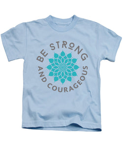 Be Strong and Courageous Flower Kids Bible T-Shirt - Coastal Faith