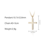 18k Gold Plated Christian Cross Pendant Necklace Set - Coastal Faith