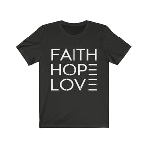 Faith Hope Love Unisex Jersey T-Shirt - Coastal Faith
