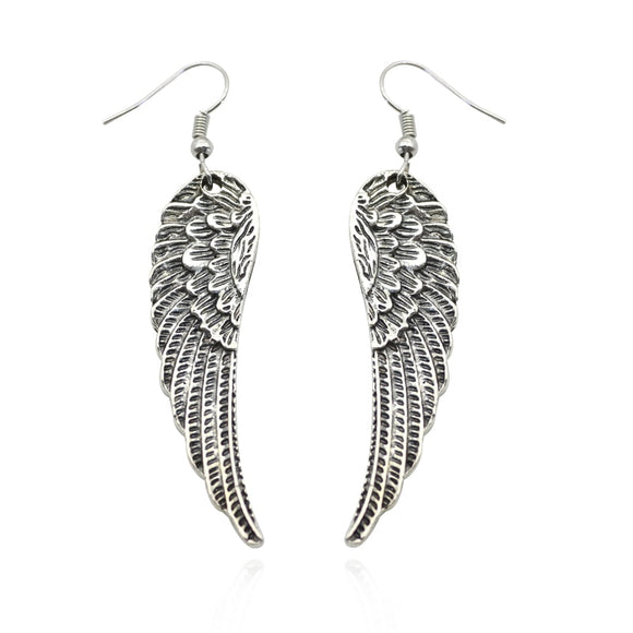 Angel Wings Drop Earrings - Coastal Faith