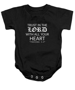 Trust In The Lord Bible Baby Onesie - Coastal Faith