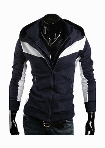 Slim Jacket Navy And White