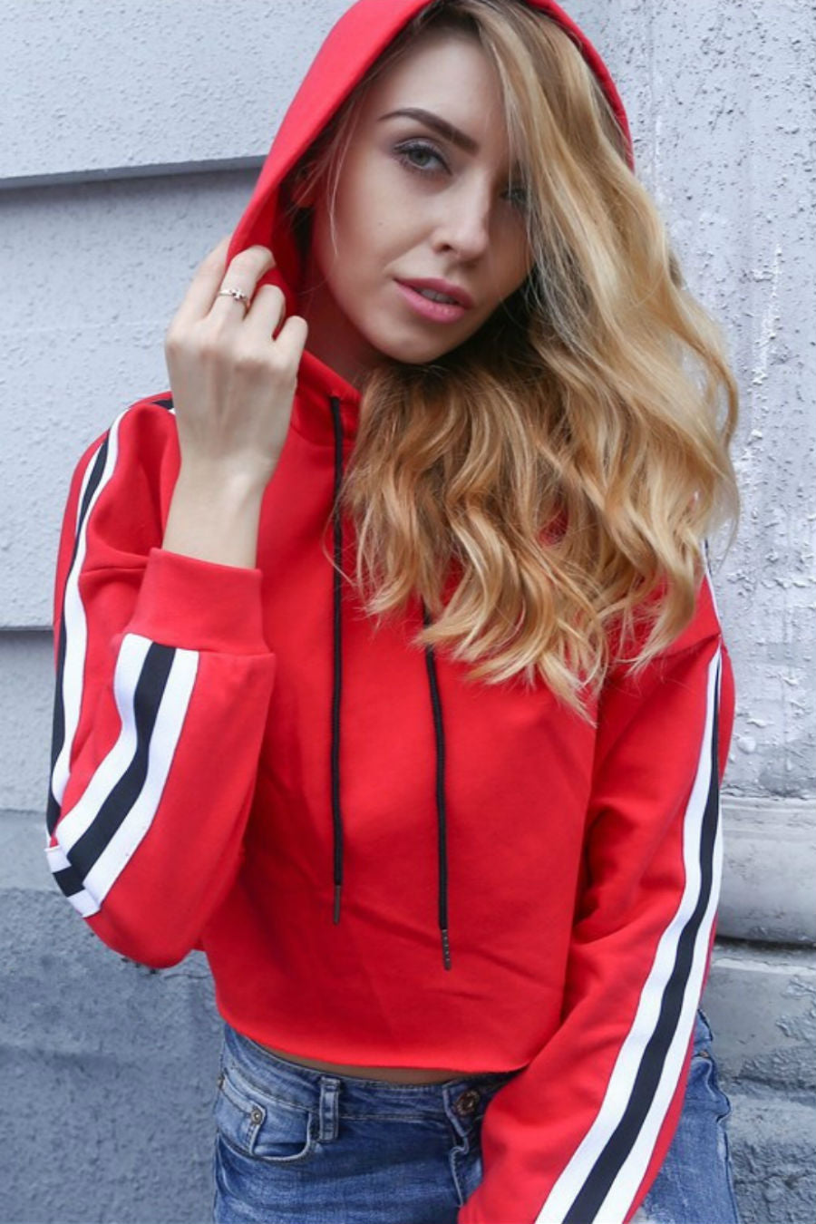 Striped Red Hoodie