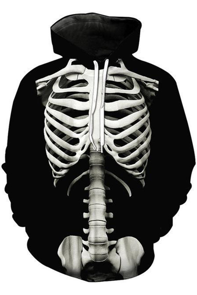 Skeleton 3D Hooded Sweater