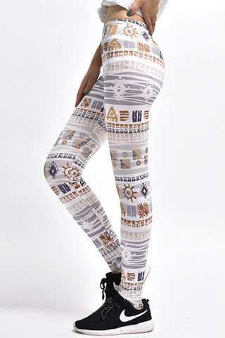 Ethnic Tribal 3D Yoga Leggings