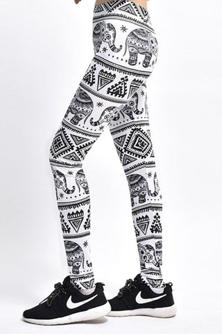 BOHO Elephant Yoga Leggings