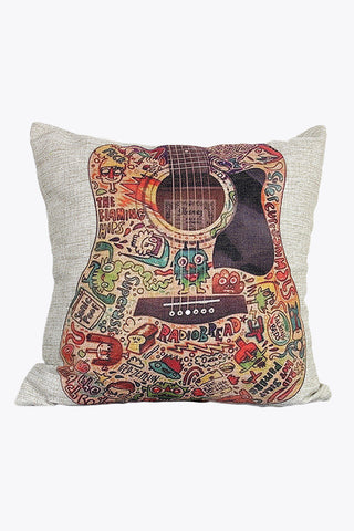 Retro Cartoon Guitar Pillow