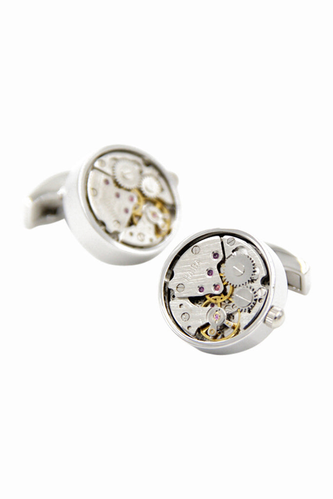 Silver Rounded Cufflinks